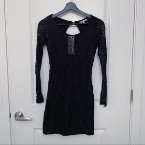 Charlotte Russe Black Lace Bodycon Dress